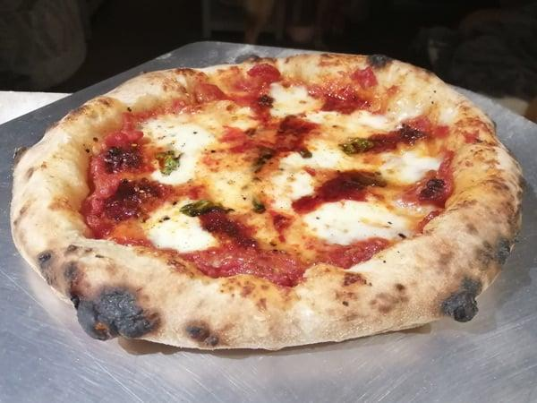 One of my homemade Neapolitan style pizzas, certainly not undercooked