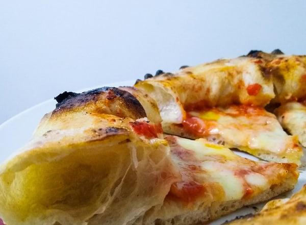 Crust of Neapolitan style pizza