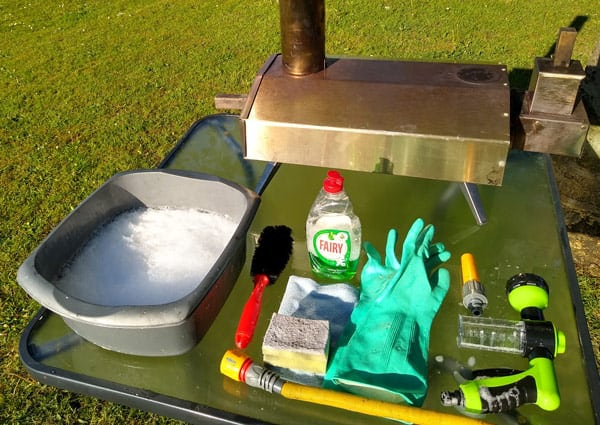 All you need is a pizza oven (really?!) and some household cleaning materials
