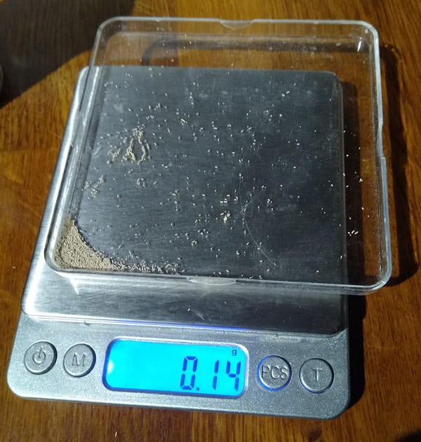 Accurate digital scales for making hand mixed pizza dough