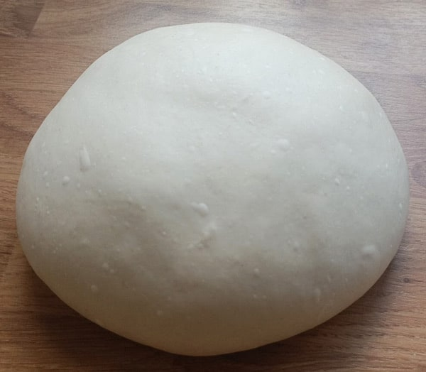 Making dough for a pizza oven