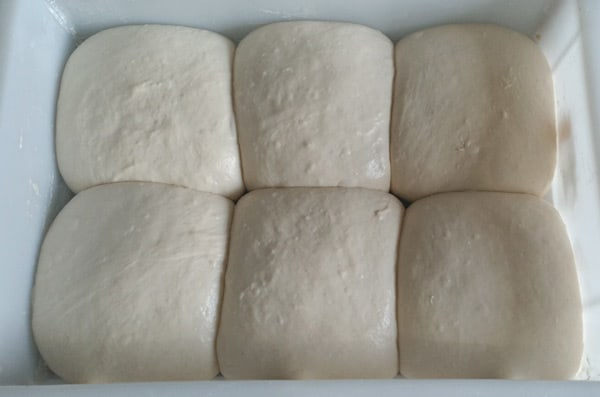 Over proofing dough