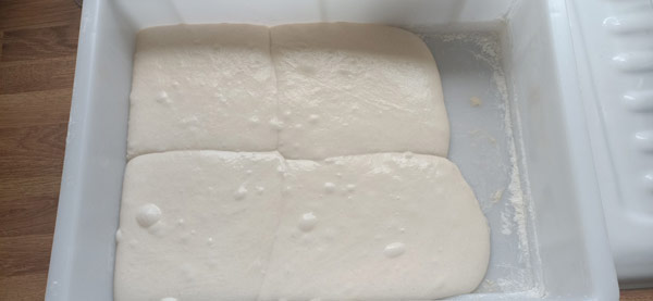 Over proofed pizza dough